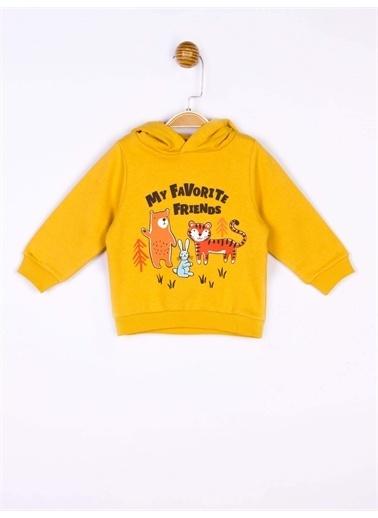 Panolino Panolino Bebek Kapüşonlu Sweatshirt 18981 Sarı